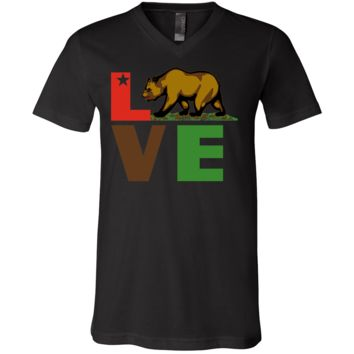 California Republic Love Bear Asst Colors V-Neck