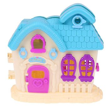 Doll House Opened Door Villa House Toy Plastic Children Girl Play House Pretend Toy for Barbie Doll Accessories Kids Gifts