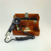 TAP 77 Soviet Military Field Telephone TAP-77. Vintage Portable Bakelite Phone the 1980's, Father's day Gift