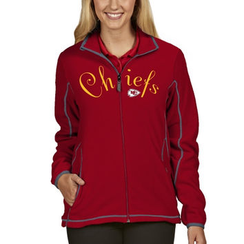 Kansas City Chiefs Antigua Women's Ice Full Zip Jacket - Red