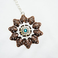 Steam punk Star Burst Necklace