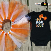 Baby Girl Halloween Outfit - Tutu - Boo - Trick or Treat - Headband