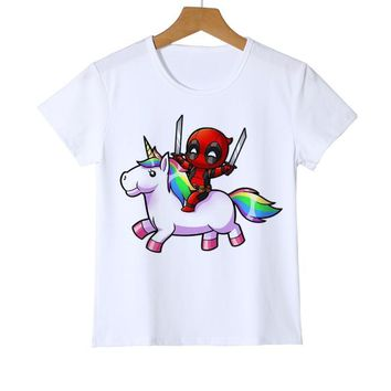 4a45efd5 Deadpool Dead pool Taco Summer Fashion Kid Baby T-Shirt Funny Cu