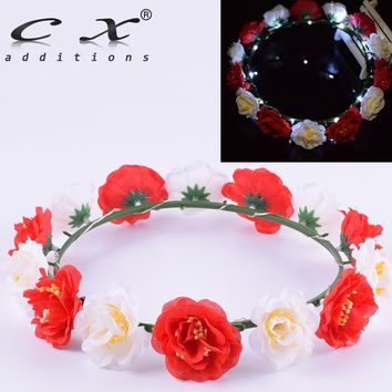 Led Camellia Flower Crown