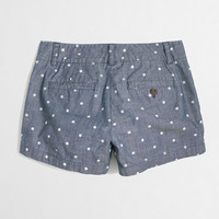 Factory dotted chambray short - novelty - FactoryWomen's Shorts - J.Crew Factory