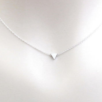 Mini, Triangle, Gold, Silver, Necklace, Lovers, Friends, Mom, Sister, Gift