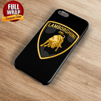 Lamborghini Automobile Car Logo Full Wrap Phone Case For iPhone, iPod, Samsung, Sony, HTC, Nexus, LG, and Blackberry