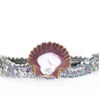 Mermaid Headband Ocean Beach Seshell Sequin Rhinestone Tiara
