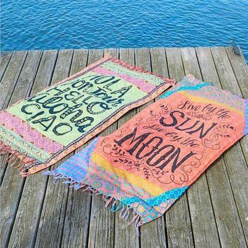 ESBONFI Beach Blanket summer swimming square beachwear pool yoga mat Camping Mattress tapestry Cover-Ups