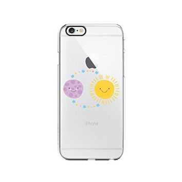 Cute Sun and Earth Transparent Silicone Plastic Phone Case for iphone 6PLUS _ LOKIshop (iphone 6 plus)
