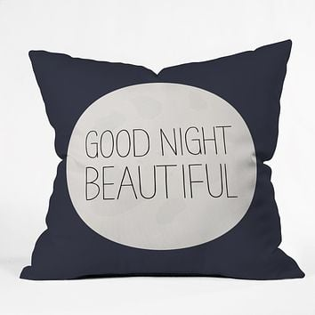 Allyson Johnson Good Night Beautiful Throw Pillow