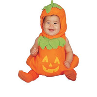 Dress Up America Baby Pumpkin Halloween Party Costume Set