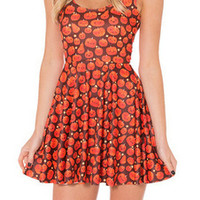 EAST KNITTING BL 508 New 2014 Fashion Autumn WomenDress PUMPKIN PATCH REVERSIBLE Skater Dresses Summer Sleeveless Dress-in Dresses from Women's Clothing & Accessories on Aliexpress.com | Alibaba Group