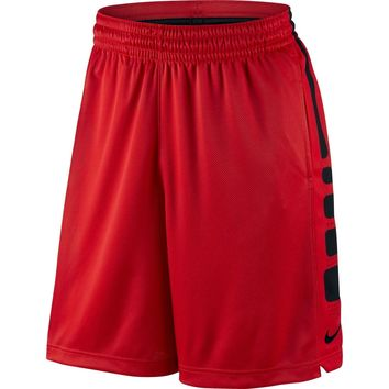 Nike- Elite Stripe Men's Basketball Shorts Red/Black Dri-Fit- NWT