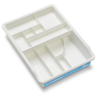Madesmart 3 by 15 by 11-1/2-Inch Junk Drawer Organizer, White