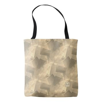 Monogram Tan Flakes Tote Bag