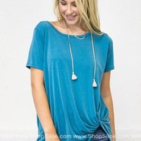 Simple Soft Knotted Top | Brights