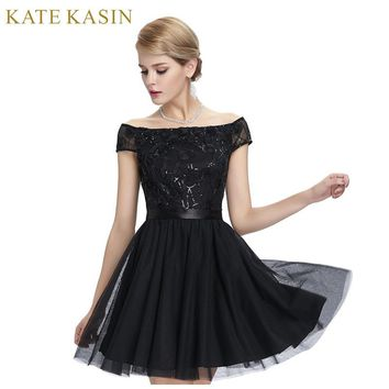 Sexy See Through Back Lace Cocktail Dresses Party Dress Cap Sleeve Ladies Mini Tulle Special Occasion Dresses 2017 Coctail Dress