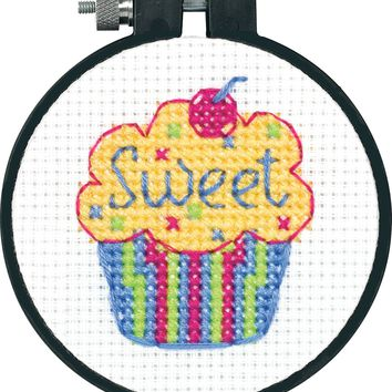 Learn-A-Craft Sweet Sugar Skull Counted Cross Stitch Kit-3 Round 11 Count
