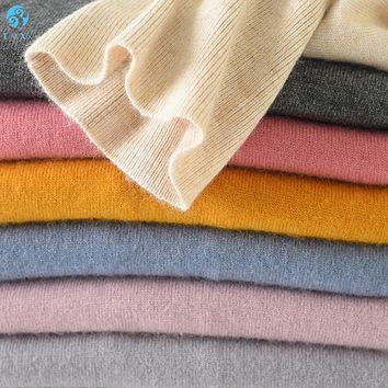 Liny Xin 100% Cashmere Women's Sweater and Pullover Winter Turtleneck Sweater Women Long Sleeve Slim fit knitted Sweater