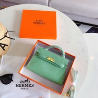 Hermes Women Leather Shoulder Bag Shopping Satchel LV Tote Bag Handbag
