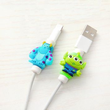 Cartoon Kawaii 8pin Cable Protector Charger USB Cable Winder For Apple IPhone 4 5 5s 6 6s 7 plus cable Protect decoration cute