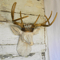 Faux deer head, Faux taxidermy, Deer head, Faux Antlers, Faux deer home decor, Faux deer wall mount, Faux Animal Heads, Large Deer Head