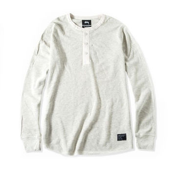 Stussy: Thermal Henley - White Heather