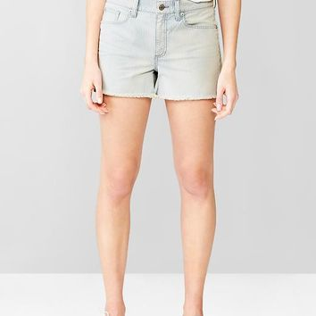 Gap Women 1969 Slim Railroad Stripe Denim Shorts