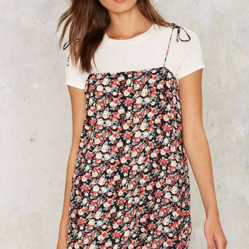 Highs and Grows Floral Dress