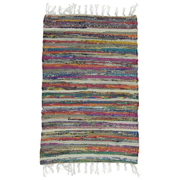 Rainbow Multi Chindi Rag Rug By Chardin
