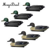 MagiDeal 6 Pcs Fishing Hunting Male Decoy Plastic Duck Decoy Drake w/ Floating Keel