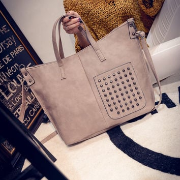 Autumn Korean Rivet One Shoulder Bags [6581805319]