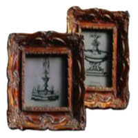 Distressed Antiqued Bronze Picture Frame