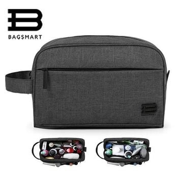 ESBONHS BAGSMART Unisex Travel Toiletry Bag Waterproof Toiletry Kit Potable Dopp Kit Large Capacity Cosmetice Bags For Packing Make Up