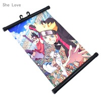 Naruto Sasauke ninja She Love Japan Anime BORUTO  Wall Scroll Painting Canvas Poster Cosplay Home Decor AT_81_8