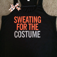 Sweating for the Costume - Ruffles with Love - Halloween Tank - Womens Fitness
