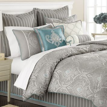 Martha Stewart Collection Bedding, Briercrest 9 Piece Queen Comforter Set - Bed in a Bag - Bed & Bath - Macy's
