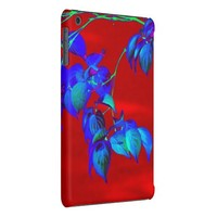 Red Sky Blue Leaves iPad Mini case