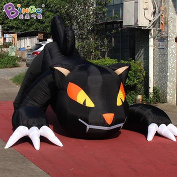 3m Inflatable Black Cat Halloween Decoration