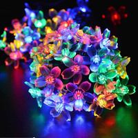 Solar Fairy Holiday String Lights 21ft 50 LED Multi-color Gardens Christmas Trees Halloween Lights Decoration Indoor/Outdoor Use