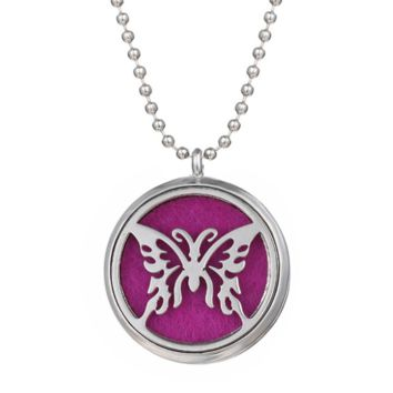 Butterfly Essential Oil Diffuser Necklace