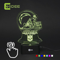 7 Colors USB 3D Light Night Lamp for Chargers Football Fans as Home Decor Bedroom Besides Table Desk Lampara Escritorio Led