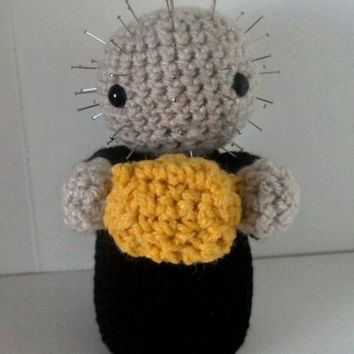 Crochet Amigurumi Pinhead Hellraiser Inspired Doll/Pincushion