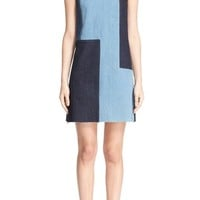 Victoria, Victoria Beckham Denim Patchwork Shift Dress | Nordstrom
