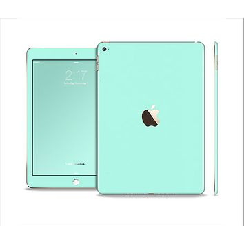 The Subtle Solid Green Skin Set for the Apple iPad Air 2
