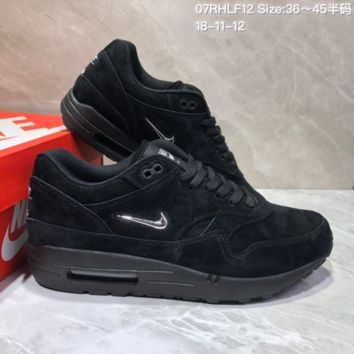 KUYOU N785 Nike Air Max 1 Jewel Premium Max 87 Retro Running Shoes Black