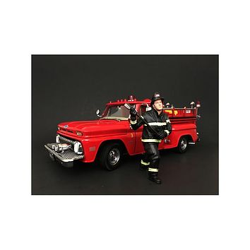 Firefighter with Axe Figurine / Figure For 1:18 Models by American Diorama