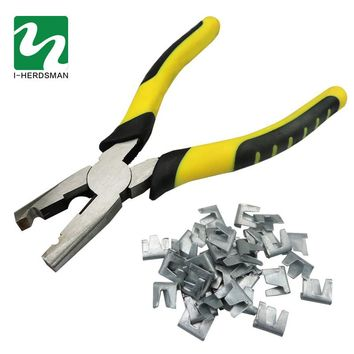 Chicken Rabbit  cage Carbon Steel 600pcs Nail 1pcs Snap Pliers For Assembling The Cage Fastening Tool Pliers Nail Group Cage