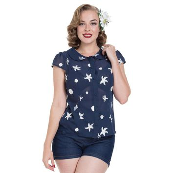 Kelly Under The Sea Embroidered Top